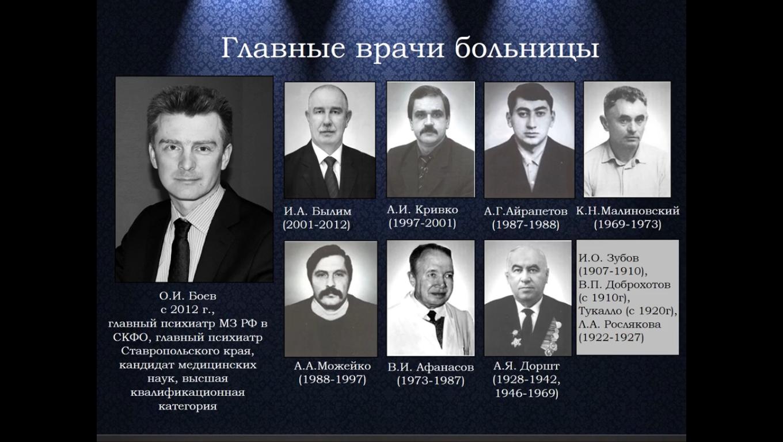 Галерея главных врачей Ставропольской краевой психиатрической больницы