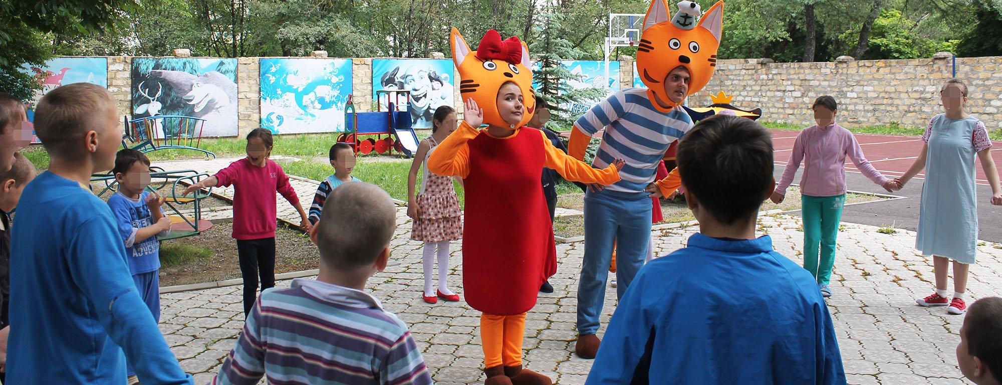 Аниматоры устроили праздник детям-пациентам