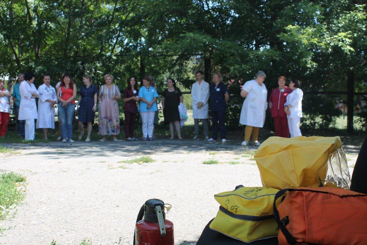 Пожарные учения в больнице