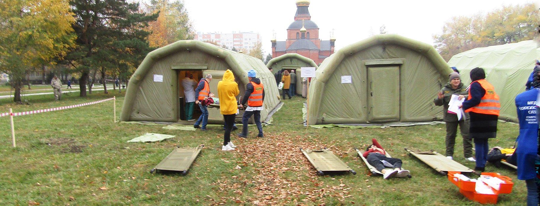 Учения: Специалисты Ставропольской психбольницы приняли участие в эвакуации пострадавших при землетрясении